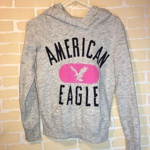 American Eagle Grey hoodie size small